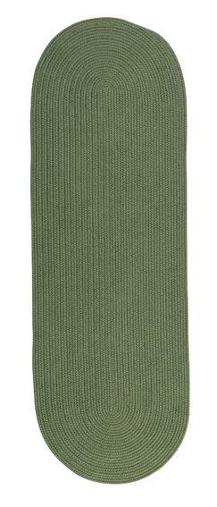Wilkens Reversible Hand-Braided Green Indoor/Outdoor Area Rug Rug Size: Runner 2'4