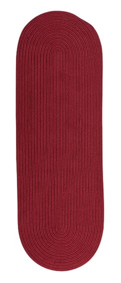 West End Reversible Hand-Braided Red Indoor/Outdoor Area Rug Rug Size: Runner 2'4