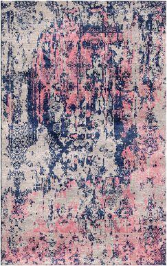 Aliza Handloom Gray/Pink Area Rug Rug Size: Rectangle 9' x 12'