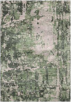 Ashford Handloom Green/Gray Area Rug Rug Size: Rectangle 5'7