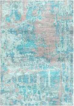 Ashford Handloom Blue/Gray Area Rug Rug Size: Square 6'