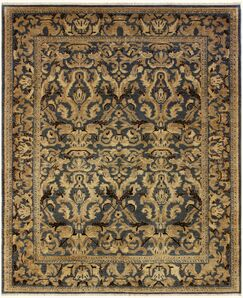One-of-a-Kind Bodrum Hand-Knotted Wool Black/Tan Area Rug