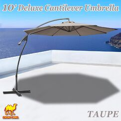 Tallulah Sunshade Hanging Outdoor 10' Cantilever Umbrella Fabric Color: Taupe