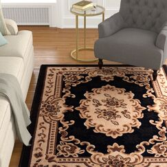 Acker Black Area Rug Rug Size: Rectangle 10' x 13'