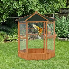 Fielding Outdoor Aviary Bird Cage Flight House with Covered Roof
