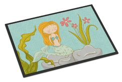 Mermaid Underwater Scene Doormat