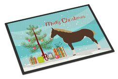 Percheron Horse Christmas Doormat