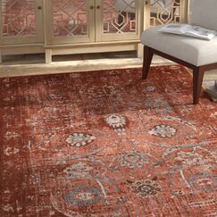 Aya Oriental Classic Copper Area Rug Rug Size: Rectangle 7'10'' x 10'6