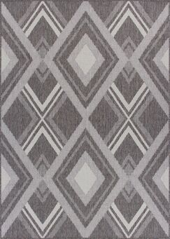 Tennyson Weather-Proof Gray Indoor/Outdoor Area Rug Rug Size: Rectangle 9' x 12'