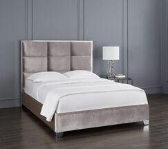 Dubose Upholstered Platform Bed Size: King, Color: Gray