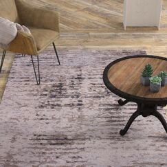 Brice Hand-Knotted Gray Area Rug Rug Size: Rectangle 5' x 8'