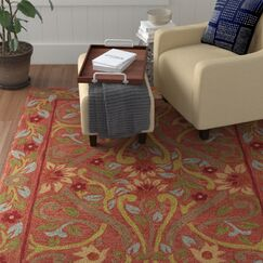 Kisling Brown/Red Area Rug Rug Size: Rectangle 7'6