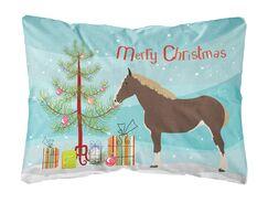 Howth Percheron Horse Christmas Indoor/Outdoor Throw Pillow