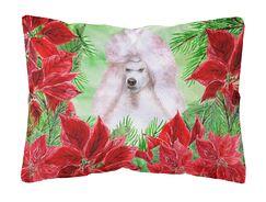 Lakewood Standard Poodle Poinsettas Indoor/Outdoor Throw Pillow