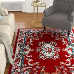 Lilly Claret Area Rug Rug Size: Rectangle 7'8