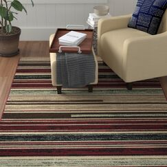 Church Beige/Red/Black Area Rug Rug Size: Rectangle 8' x 10'