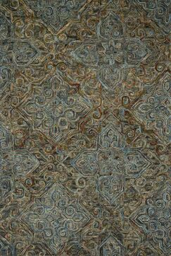 Watertown Looped/Hooked Wool Charcoal Area Rug Rug Size: Rectangle 7'9