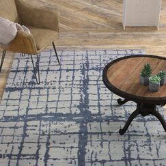 Diego Cotton Gray Area Rug Rug Size: Rectangle 7' x 10'