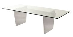 Chiara Dining Table Base Color: Silver