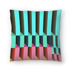 Geometric 26 Throw Pillow Size: 14