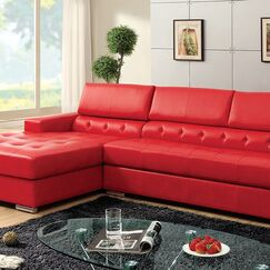 Camren Sectional Upholstery Color: Red