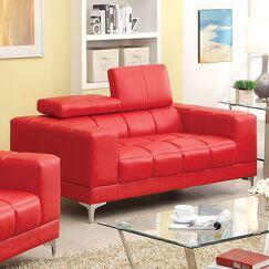 Gianni Loveseat Upholstery: Red