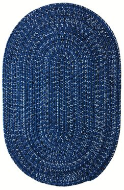 One-of-a-Kind Aukerman Hand-Braided Blue/Black Indoor/Outdoor Area Rug Rug Size: Oval 2' x 8'