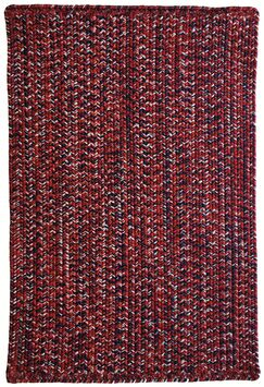 One-of-a-Kind Aukerman Hand-Braided Red/Navy Indoor/Outdoor Area Rug Rug Size: Rectangle 3' x 5'