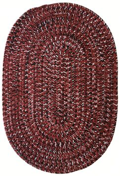 One-of-a-Kind Aukerman Hand-Braided Burgundy Indoor/Outdoor Area Rug Rug Size: Oval 2'3