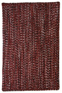 One-of-a-Kind Aukerman Hand-Braided Red/Black Indoor/Outdoor Area Rug Rug Size: Rectangle 9'2