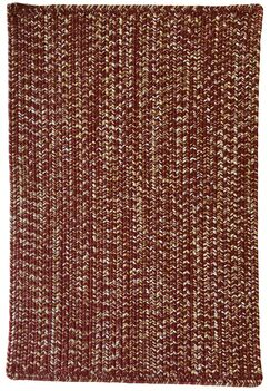 One-of-a-Kind Aukerman Hand-Braided Red Indoor/Outdoor Area Rug Rug Size: Rectangle 8' x 11'