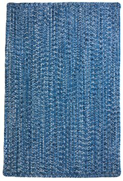One-of-a-Kind Aukerman Hand-Braided Light Blue/Navy Indoor/Outdoor Area Rug Rug Size: Rectangle 5' x 8'