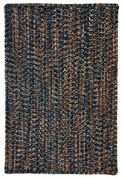 One-of-a-Kind Aukerman Hand-Braided Navy/Orange Indoor/Outdoor Area Rug Rug Size: Square 9'6