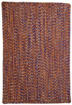 One-of-a-Kind Aukerman Hand-Braided Orange Indoor/Outdoor Area Rug Rug Size: Runner2' x 8'