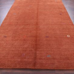 One-of-a-Kind Seidman Indian Oriental Hand-Knotted Wool Rust Area Rug