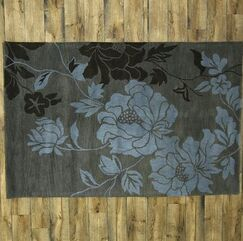 Kathy Agra Oriental Hand-Tufted Wool Brown Area Rug