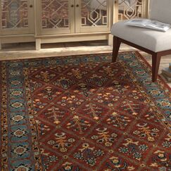 Moss Traditional Hand Tufted Wool Brown Area Rug Rug Size: Square6'
