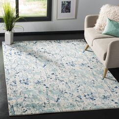 Gore Ivory/Blue Area Rug Rug Size: Rectangle 4' x 6'