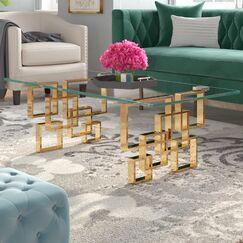 Jani Coffee Table Table Base Finish: Gold