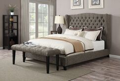 Mendez Upholstered Platform Bed Size: Queen, Color: Chocolate
