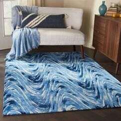 Abstract Ocean Area Rug Rug Size: Rectangle 5' x 7'