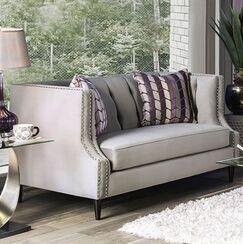 Shields Loveseat Upholstery: Gray