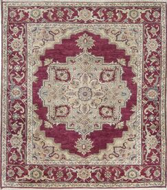 Templeton One-of-a-Kind Hand-Knotted Wool Red Area Rug