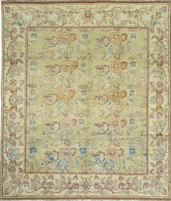 One-of-a-Kind Hand-Knotted Wool Gold Area Rug