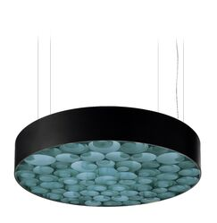 Spiro LED Drum Pendant Finish: Black Outer, Size: Medium, Shade Color: Turquoise