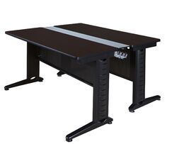 Stivers Benching Station Training Table Tabletop Finish: Mocha Walnut, Size: 26