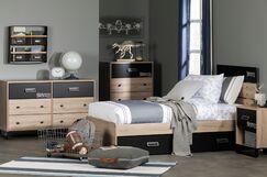 Induzy Industrial Full Platform Configurable Bedroom Set