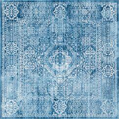 Gomez Blue Area Rug Rug Size: Square 8'