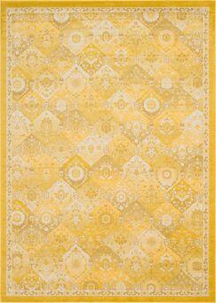 Ernst Yellow Area Rug Rug Size: Rectangle 8' x 10'