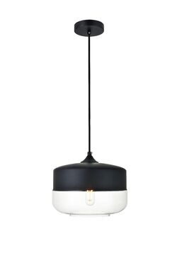 Bauman 1-Light Schoolhouse Pendant Size: 8.7